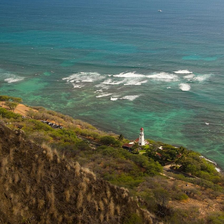 Beautiful view from the Diamondhead Crater Sea Enjoying The View Lighthouse Hawaii Honolulu, Hawaii Waikiki