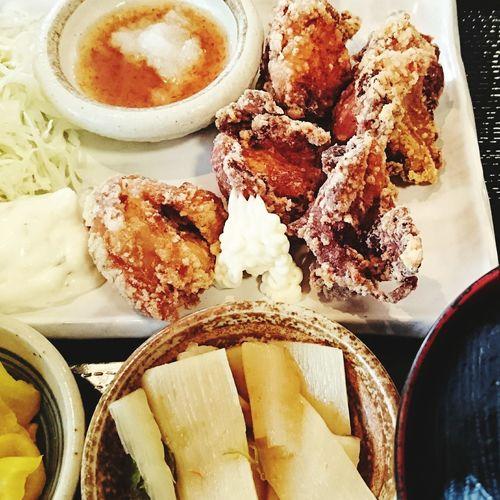 食べもの 定食 唐揚げ定食 ランチ Food Foods Set Meal Fried Chicken Lunch