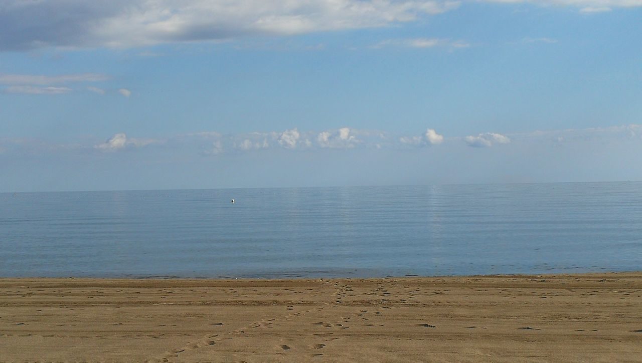 Beach Sea Water Sand Horizon Over Water Sky Tranquility No People Cloud - Sky Day Nature Outdoors Tranquil Scene Scenics Blue Beauty In Nature Costa Del Sol, November,sun,beach..