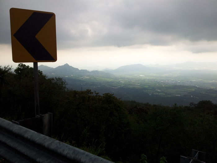 Calma tras la tormenta Motorcycle Awesome_view Marking Of Road Landscpape Big Falls Humidity Mountains