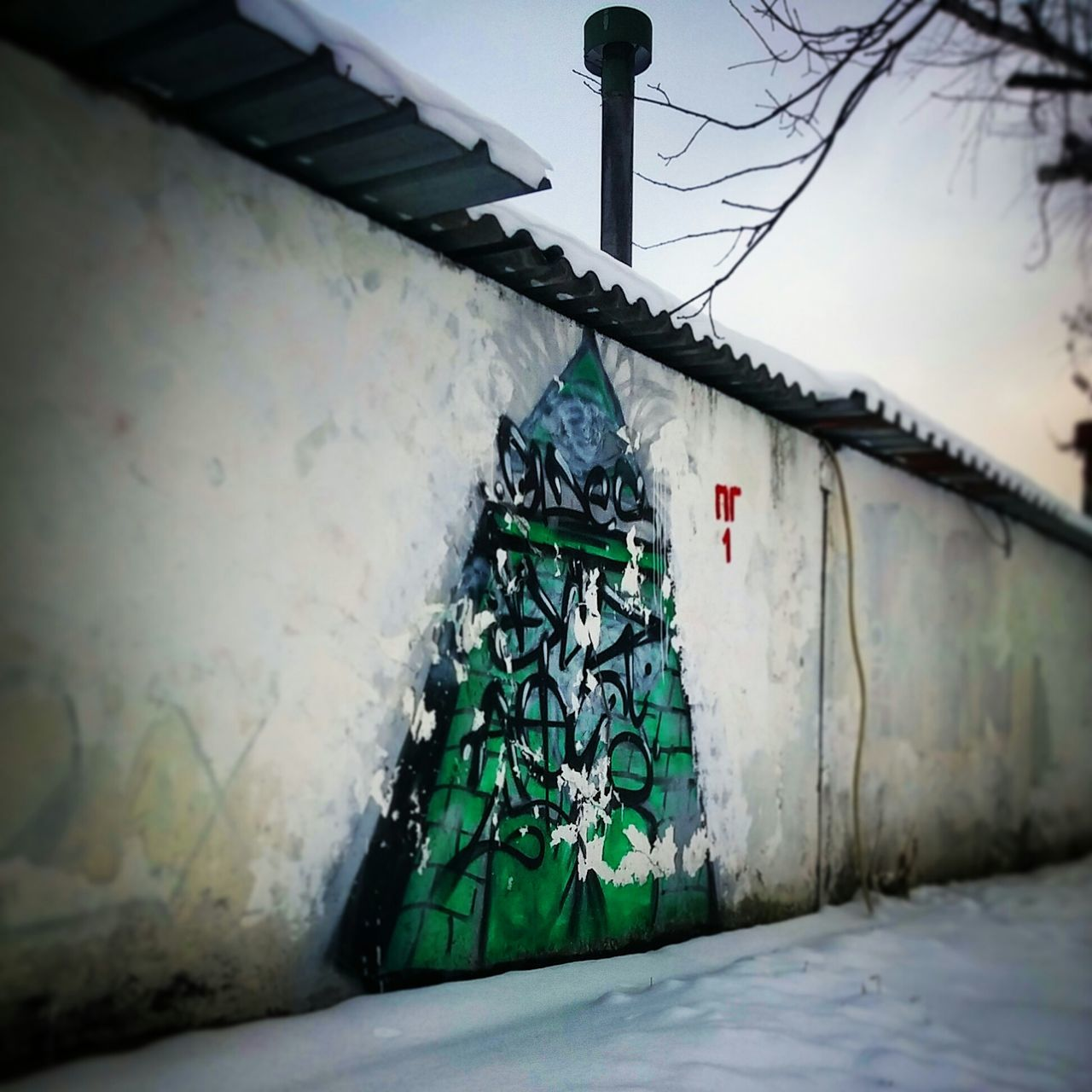Xmas Tree New Year Streetart