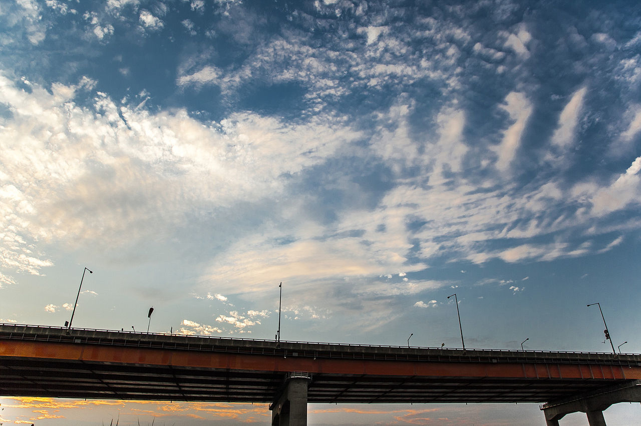 Bridge Sunset Han River Bangwha Bridge Sky Cloud