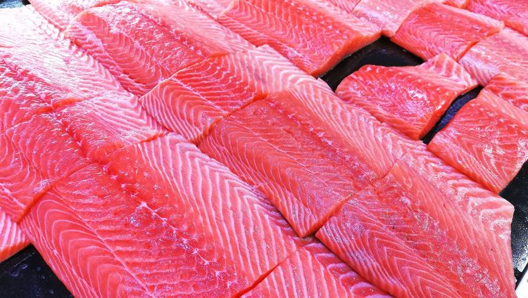 Salmon Colored Salmon Pink Salmon Fish Salmon - Seafood Full Frame Textured  Backgrounds Pattern Textile No People Close-up Indoors  Day