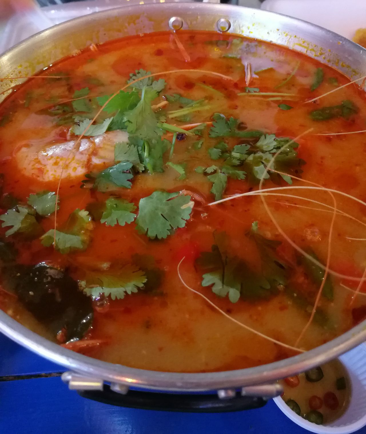 Tom Yum Seafood - Thai Spicy Shrimp Soup Tom Yum Seafood Tom Yum Goong Tom Yum Kung Taste Thai Food