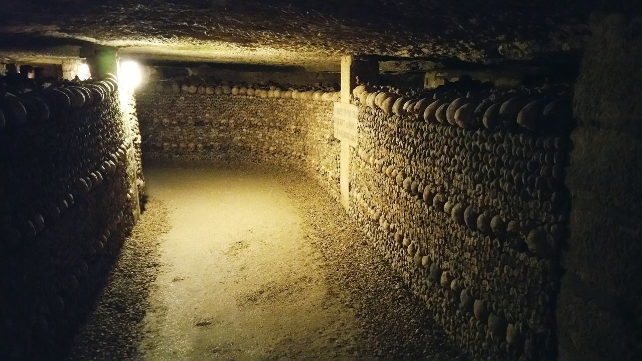 illuminated, cellar, indoors, no people, built structure, warehouse, basement, architecture, night, water, barrel, wine cask