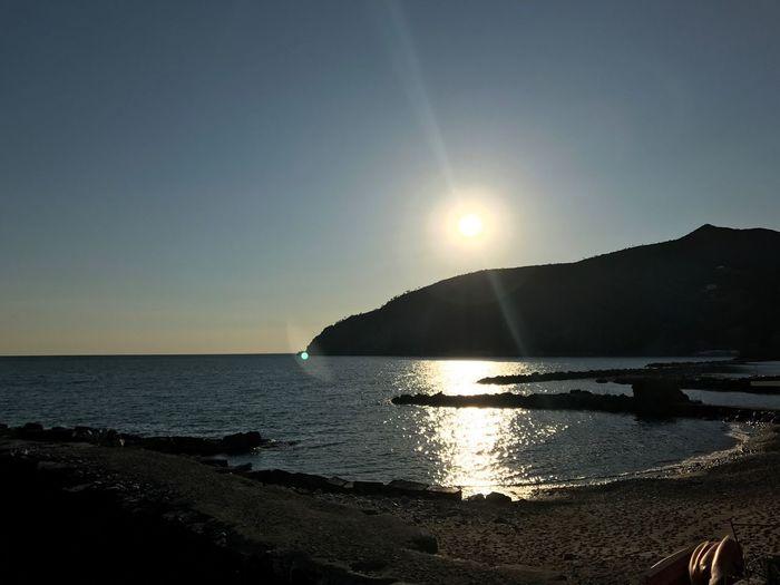 Sunset in Moneglia Traveling Cinque Terre Seascape Italy❤️