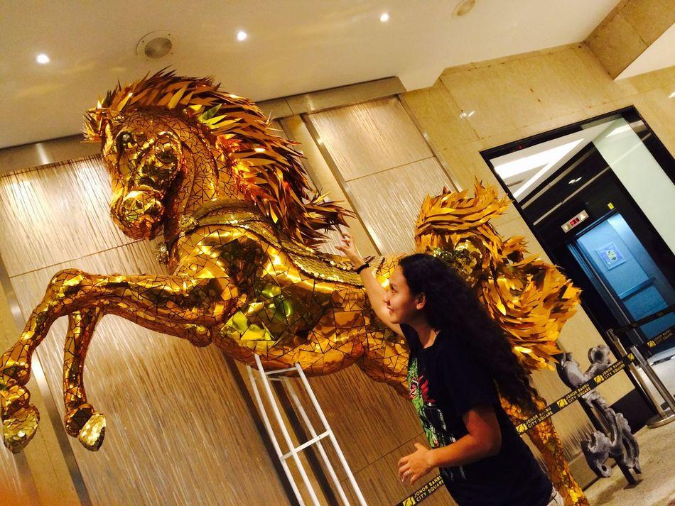 43 Golden Moments ILoveMyself Gold Horse Sculpture Art Gold Golden NoEditNoFilter Girl Alone
