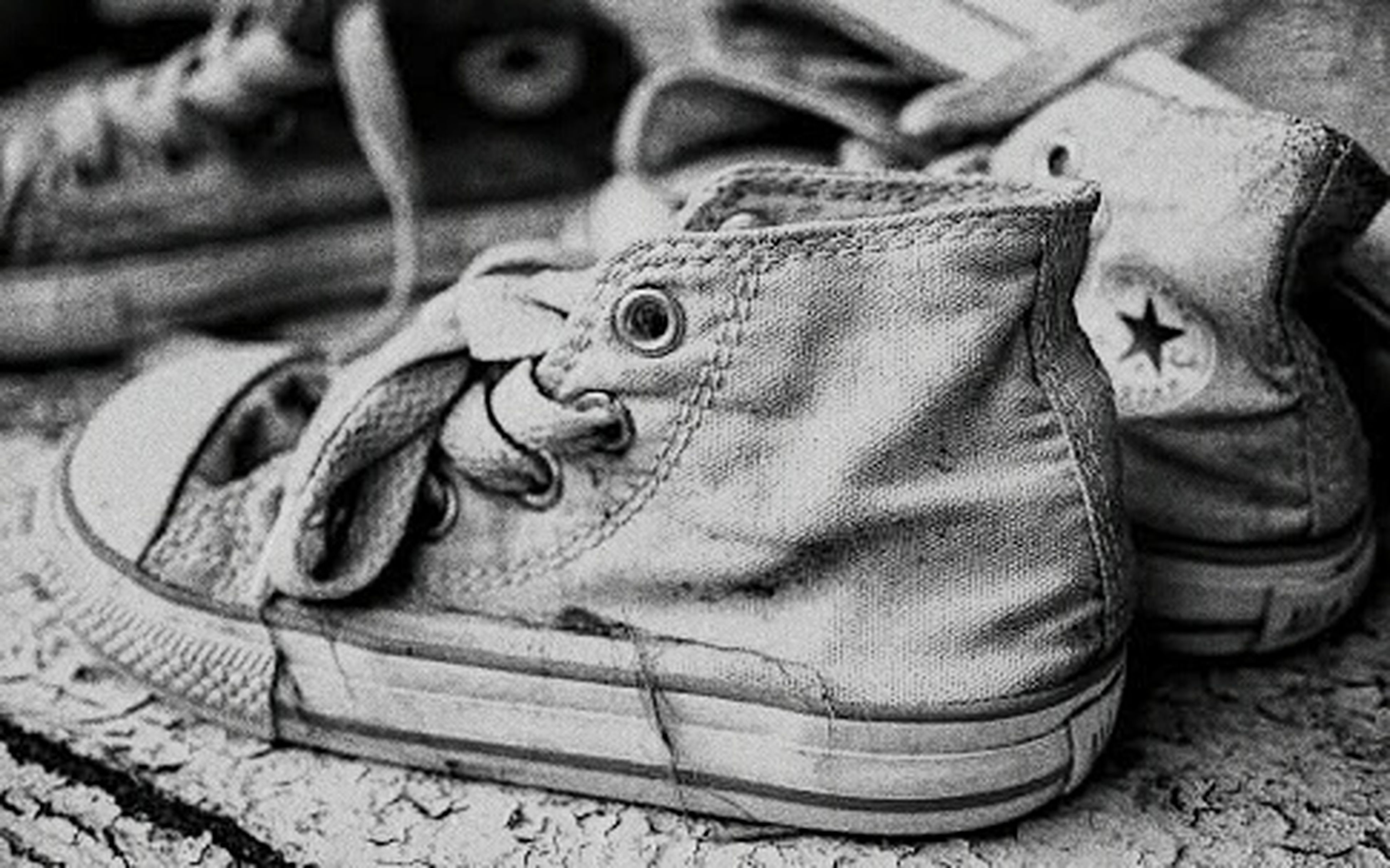 shoe, close-up, jeans, indoors, high angle view, leather, footwear, pair, still life, focus on foreground, low section, person, fashion, day, men, art and craft, black color, clothing, canvas shoe
