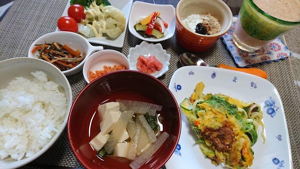 朝ごはん☆ Food Healthy Eating Food And Drink Japanese Food Yummy Smoothie Breakfast