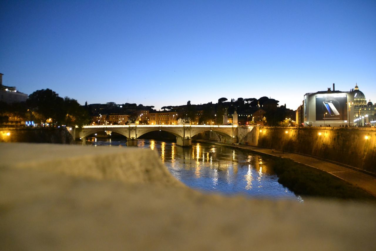 Rome By Night Bridge - Man Made Structure Water City Travel Destinations Architecture Illuminated Arch Bridge Arch Night Scenics Outdoors Vacations No People