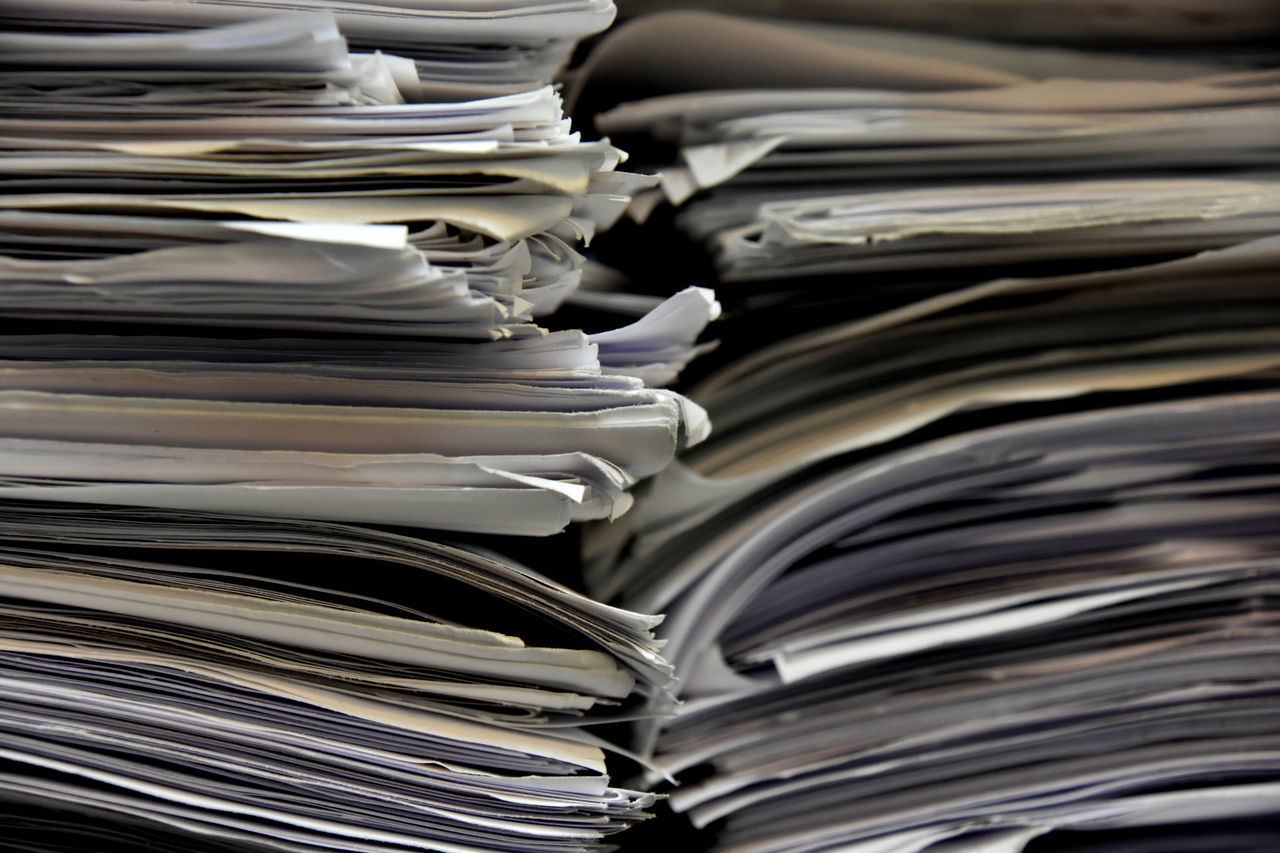 Close-up Day Document Large Group Of Objects No People Page Paper Paperwork Stack The Media