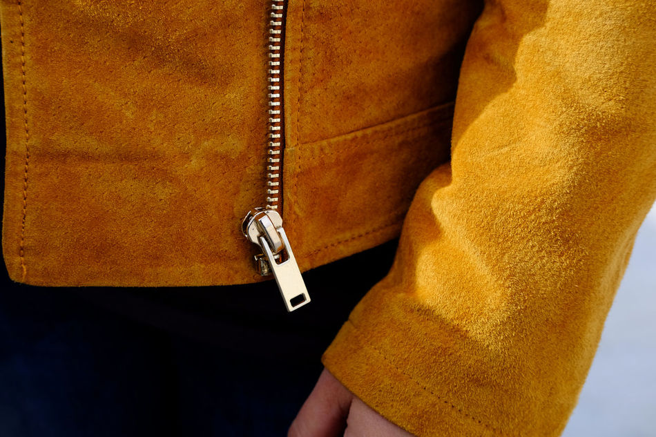 Brown Color Close Up Close-up Day Detail Fashion Fashion Photography Human Body Part Human Hand Jacket Leather Jacket Look One Person Outdoors People Spring Street Photography Style Woman Zipper