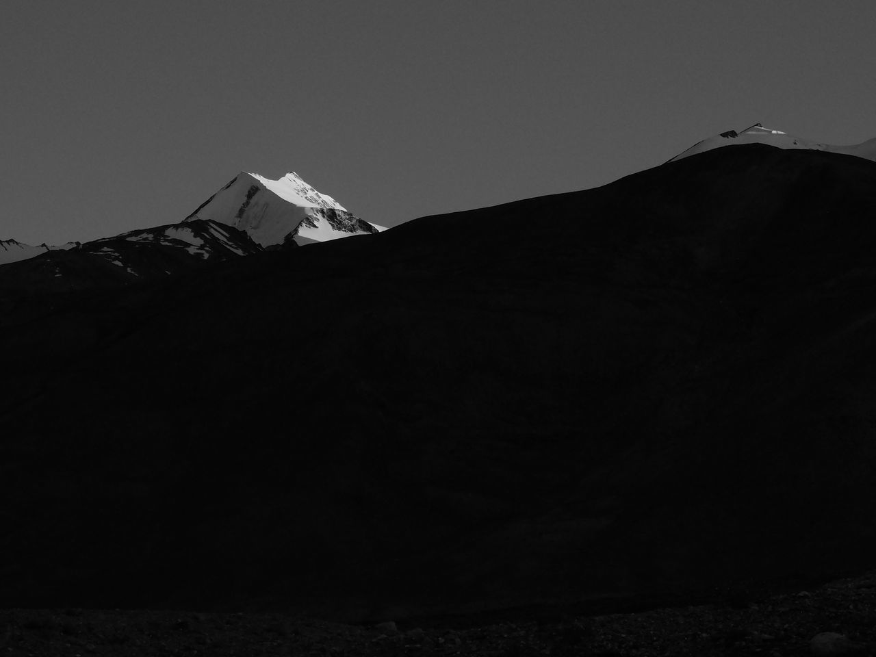 Architecture Beauty In Nature Black And White Dark Jammu And Kashmir Leh Ladakh Mountain Nature Night No People Outdoors Pangong Lake Pangong Tso Sky Tree EyeEmNewHere