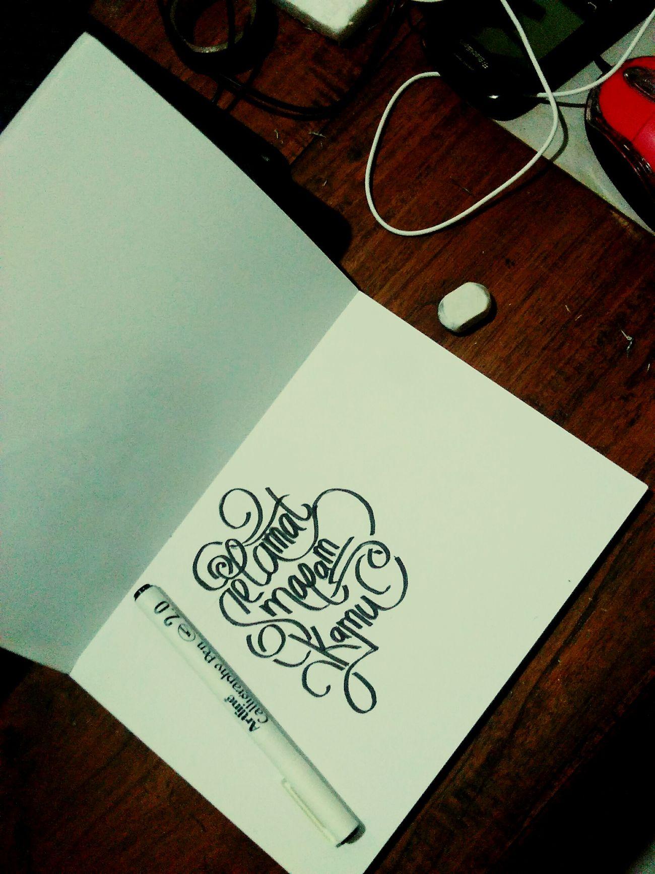 Selamat malam kamu Art ArtWork Typography TypographyArt Typographyjember Typographyindonesia Lettering Letteringjember Letteringindonesia Handlettering Handletter Handletteringindonesia