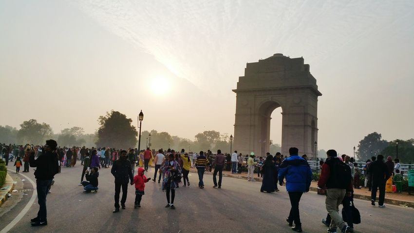 Asian Culture Thehumancondition ForeignCitizen Incredible India IndiaTravelDiaries @ Indiagate Newdelhi| 12th Jan 2015