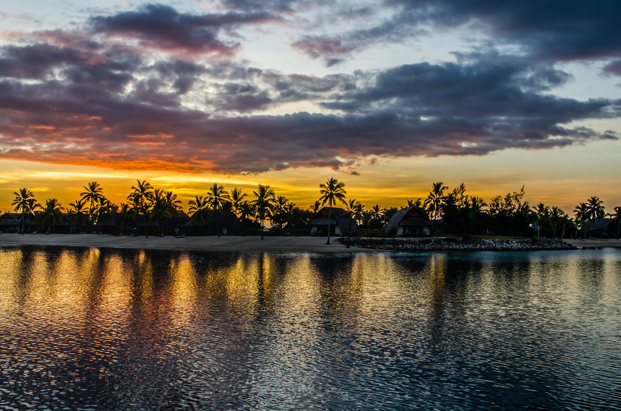 Bures under the sunset Beauty In Nature Bure Cloud - Sky Dramatic Sky Fiji Nature No People Outdoors Reflection Scenics Sky Sunset Tranquil Scene Tranquility Travel Travel Destinations Water Waterfront The Great Outdoors - 2017 EyeEm Awards