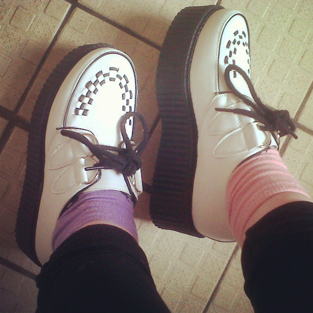My bbys <3 White Doublesolecreepers Creepers