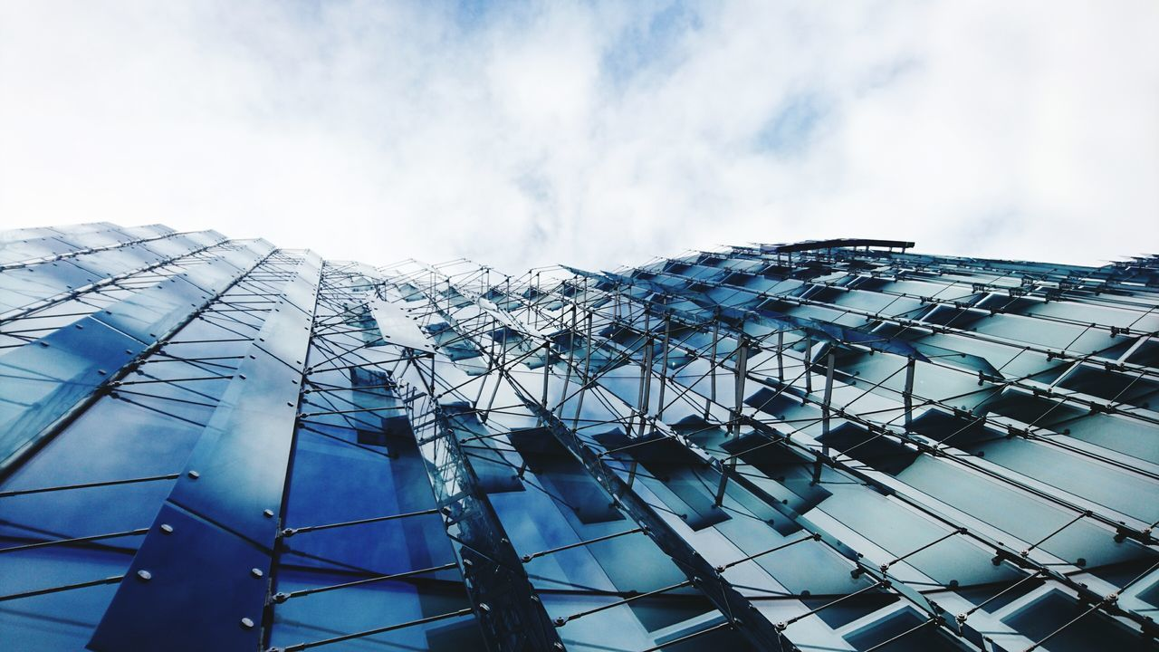 architecture, building exterior, built structure, low angle view, no people, day, modern, outdoors, sky