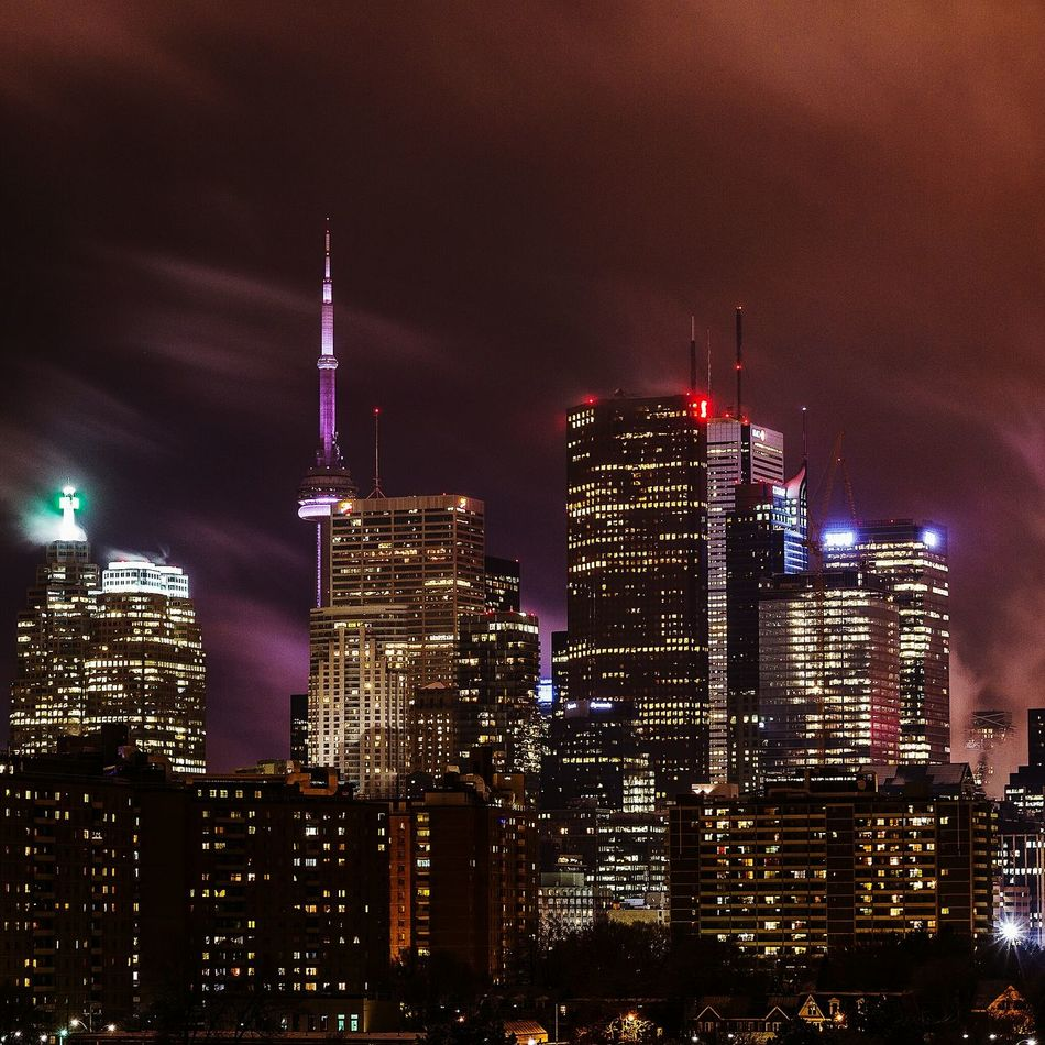 Beautiful stock photos of night, Architecture, Building Exterior, Built Structure, CN Tower