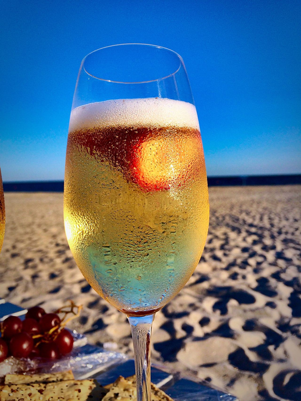 Liquid Lunch Champagne Ocean Champagne Summer Time Beverage Ocean Sand Summer Wine Moments