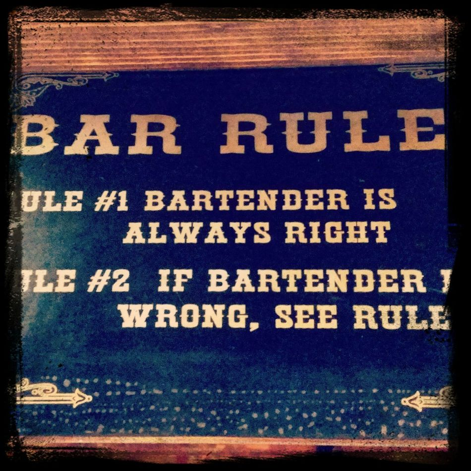 The rules in my bar... Followme Cocktails Old Fashioned TriesteSocial