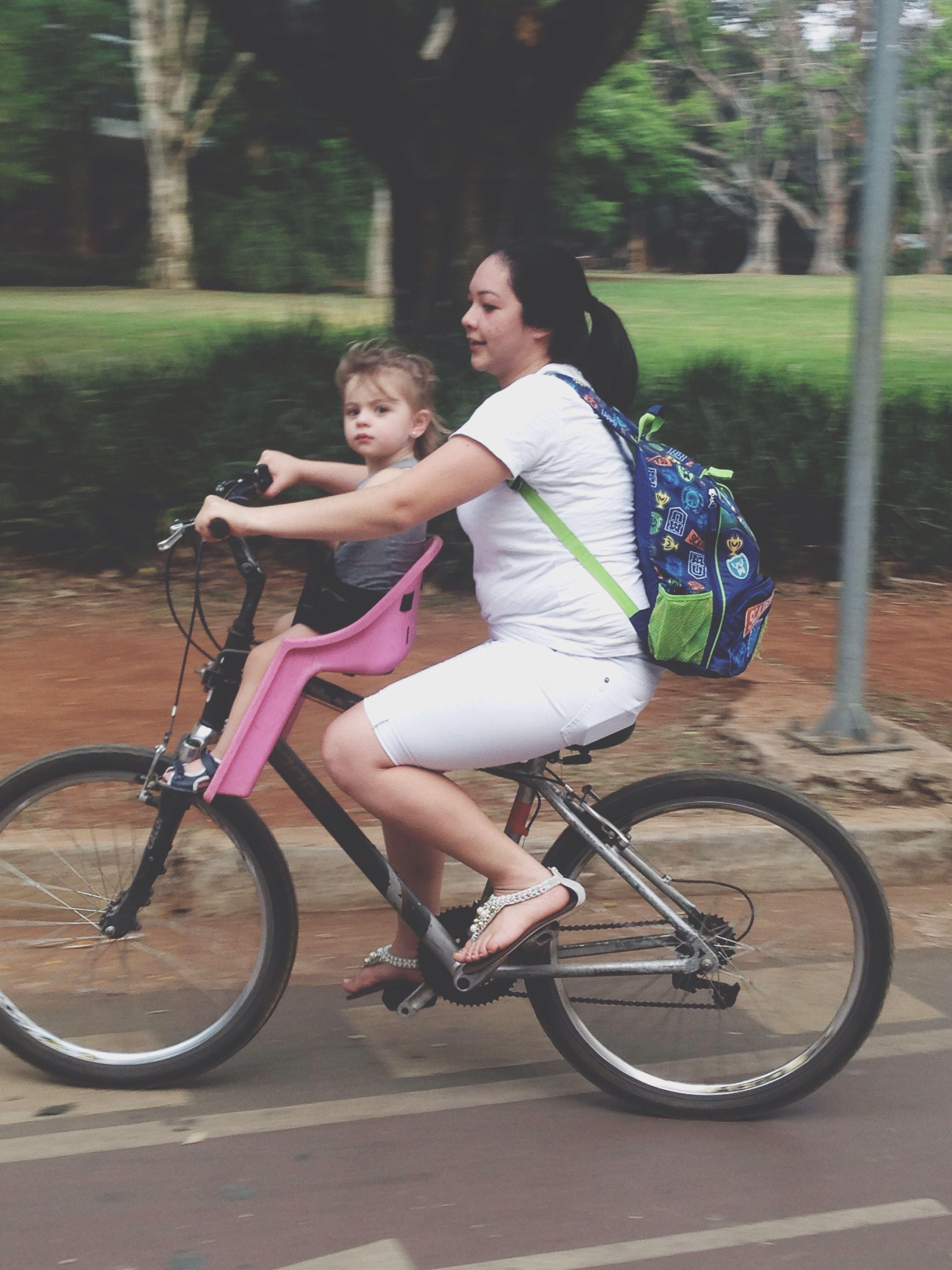 Luiza Primeiro Passeio De Bike No Ibira