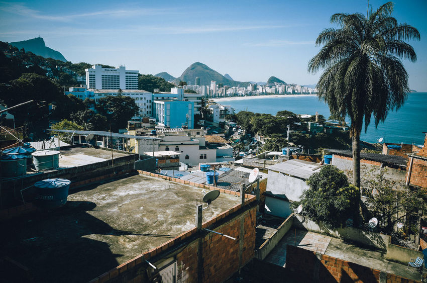 Ocean view seen from the Favela Vidigal, Rio de Janeiro - Brazil Brazil Ipanema Beach Ocean View Architecture Beach Building Exterior Built Structure City Day Favela Favelas Mountain Nature No People Ocean Outdoors Palm Tree Poverty Residential Building Sea Sky Slum Tree Vidigal Water