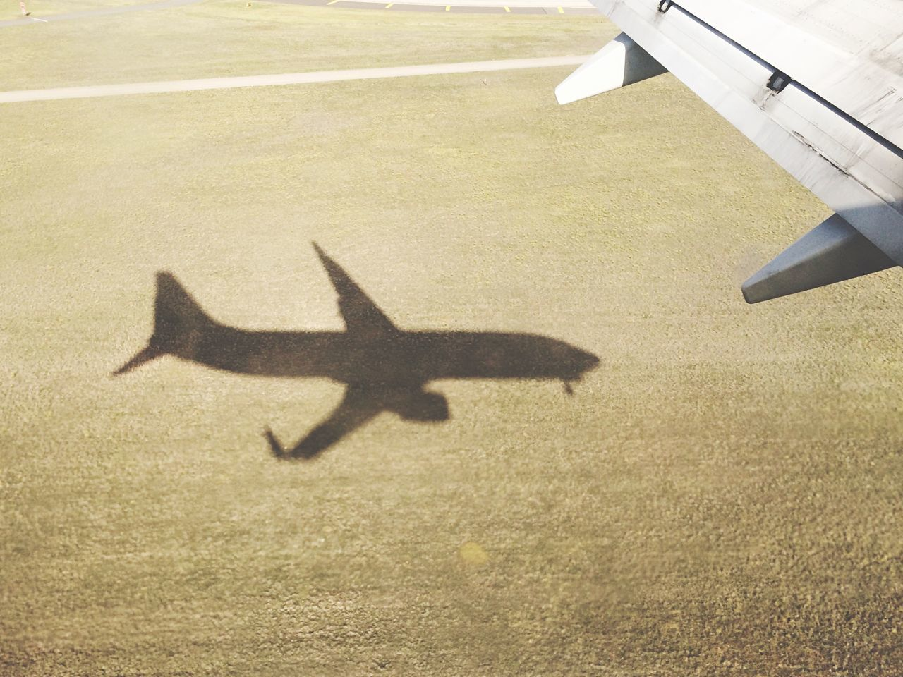 Light And Shadow Travel Flying