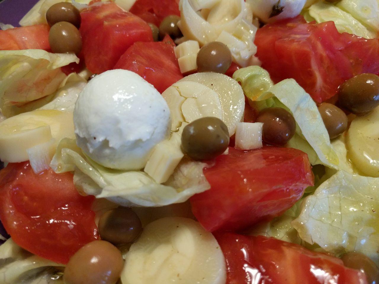 Ensalada Lechuga Tomate Palmito Olivas Queso Aceite Sal Vinagre Vinagreta Comida Street Food Worldwide