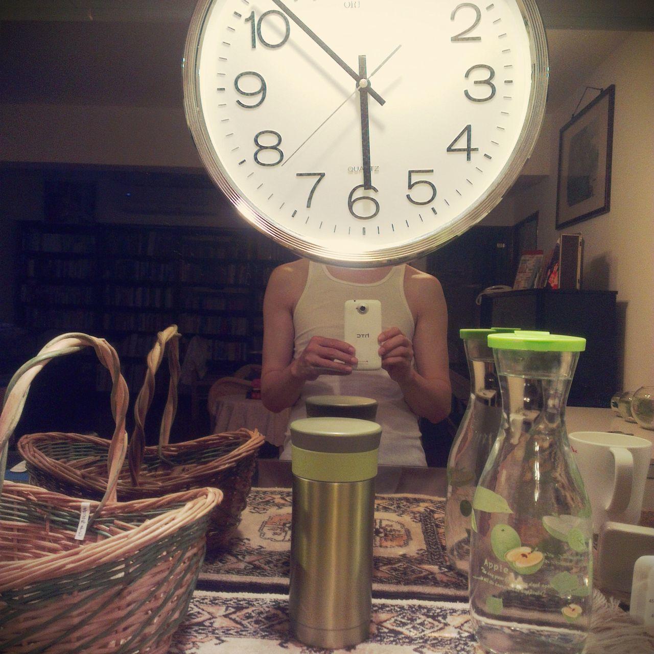 Clock Close-up HEAD Headshot Portrait Self Portrait Ticking Time
