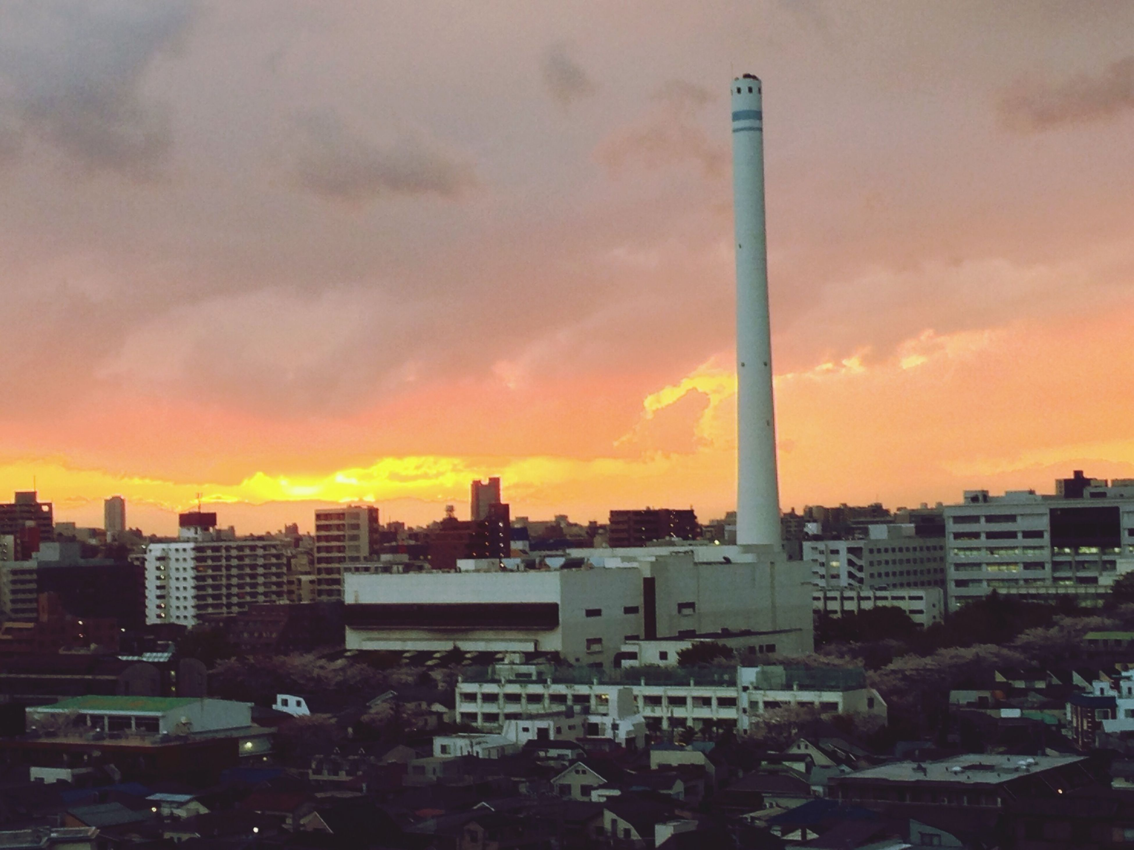 Dramatic, fiery sunset after the storm. Sunset Sky Clouds And Sky EyeEm Best Shots