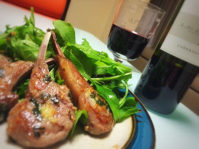 苦しゅうない^ ^ Lamb Lambchop Cooking Cooking At Home Cooking Dinner Mydinner Wine Redwine おうちごはん