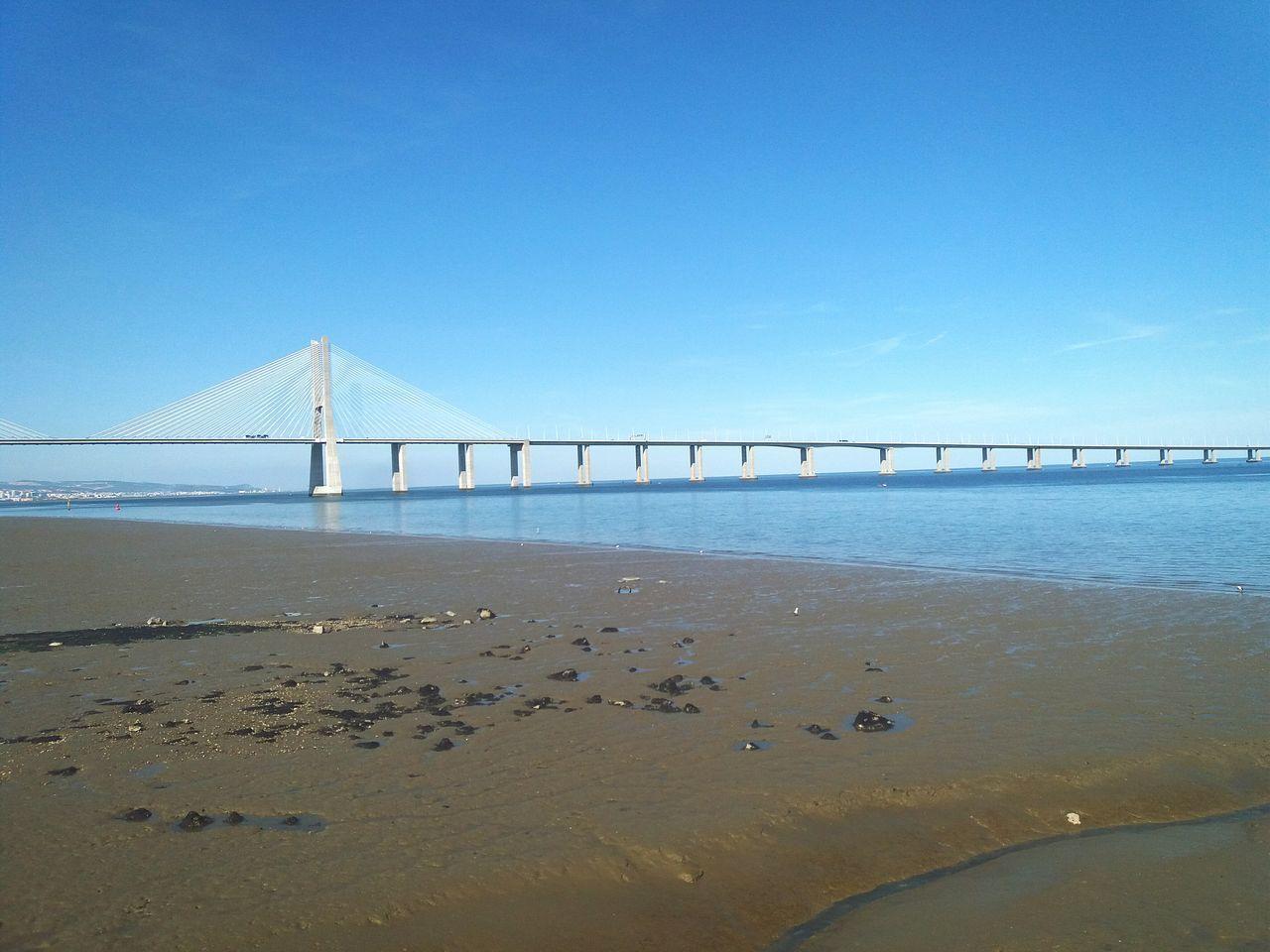 • Vasco da Gama bridge • Bridge Lisbon - Portugal Expo Rio Tejo Lisboa