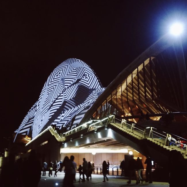 IPhoneography DXO IPhone Sydney Opera House Light And Shadow VIVID Sydney Cityscapes Vscofilm Taking Photos