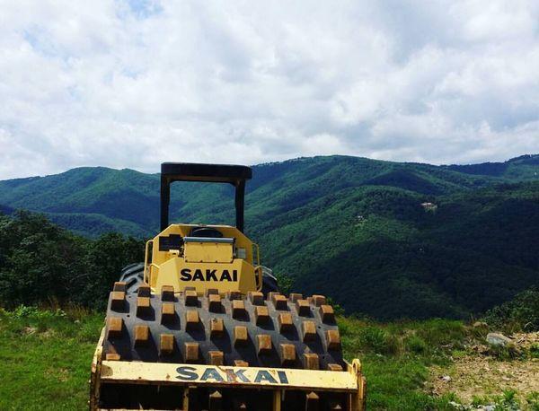 Sakai Mountains North Carolina Blue Ridge Green Blue Sky Construction