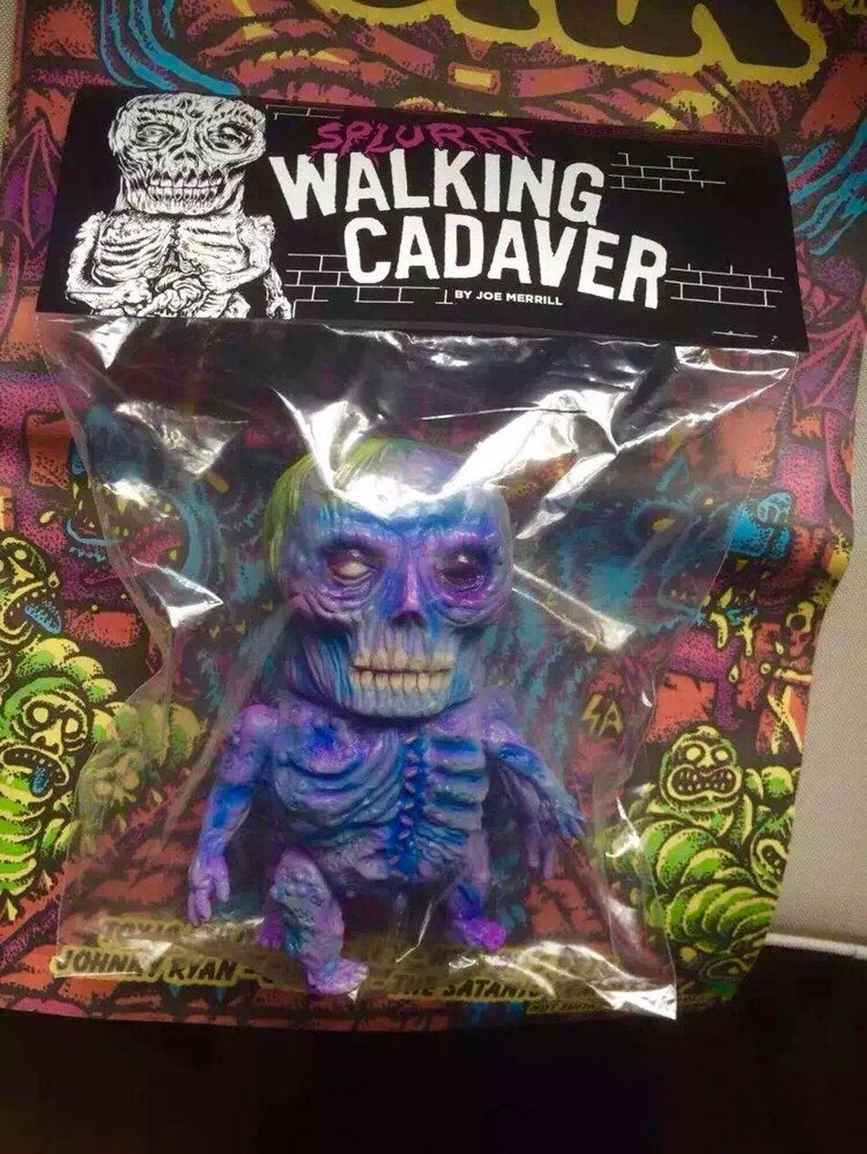 Mishka X Splurrt,Walking Cadaver Sofubi Toys Kaiju Toy Mishka