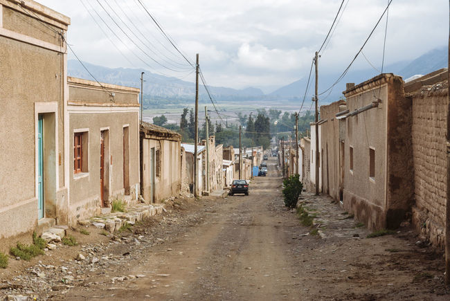 Andes Architecture Argentina Jujuy Province Mountains No People Street Tilcara, Jujuy. Tower Village