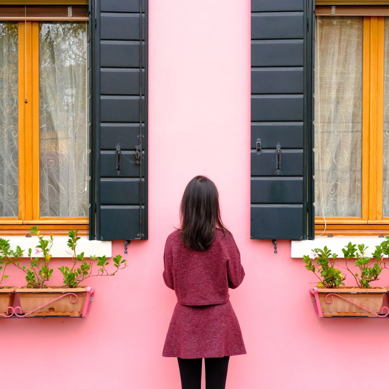 Beautiful stock photos of spring, rear view, one person, long hair, one young woman only