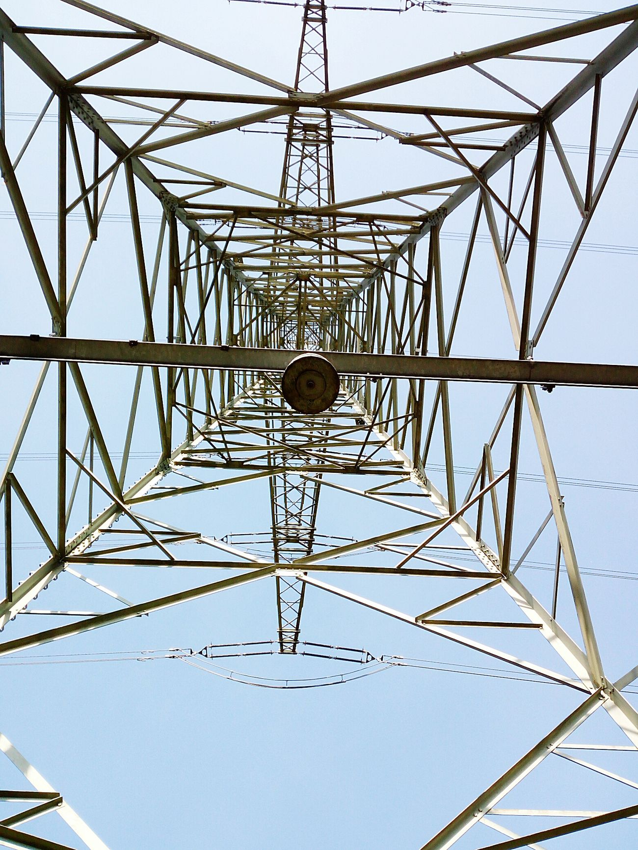 Sky Symmetry No People Nature Outdoors Electricity Pylon Day EyeEmNewHere