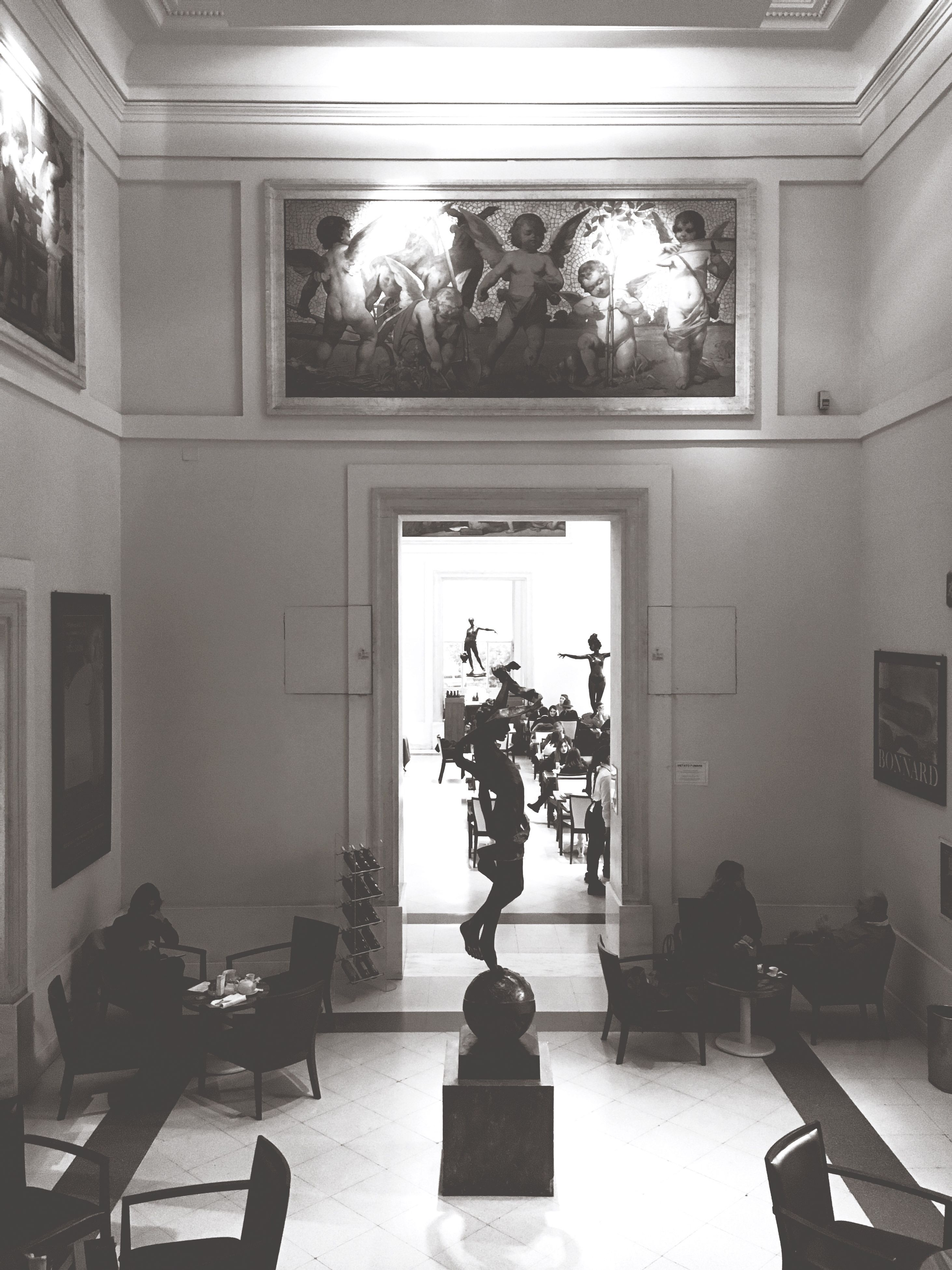 indoors, statue, home interior, no people, sculpture, day, architecture
