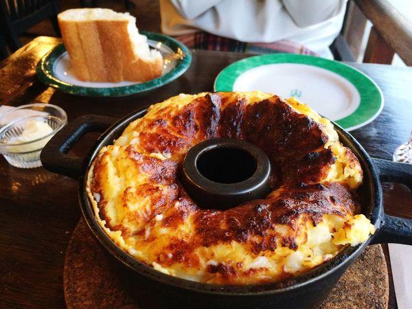 ココットスフレフロマージュ イカリヤ食堂 京都 Kyoto Japan Dinner Food Fromage Cocotte Souffle Oeuf Cheese Egg