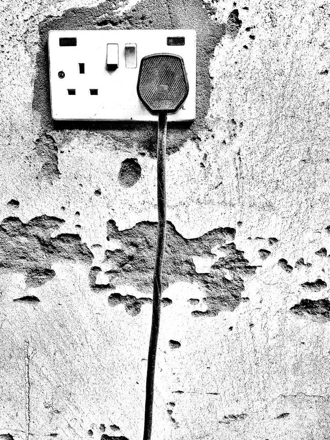 Fused...Plugged...Connected Fused Connected Plugged In Outdoors Full Frame No People Power Supply Wall - Building Feature Monochrome Black And White