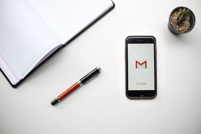 Chiang Mai, Thailand - June 13, 2017: Apple Iphone 5s with Gmail app on the screen. A Application Cactus Close-up Communication E-mail Editorial  Gmail I Illustrative Illustrative Editorial IPhone Logo Mobile Mobile Phone Pen Technology White Background