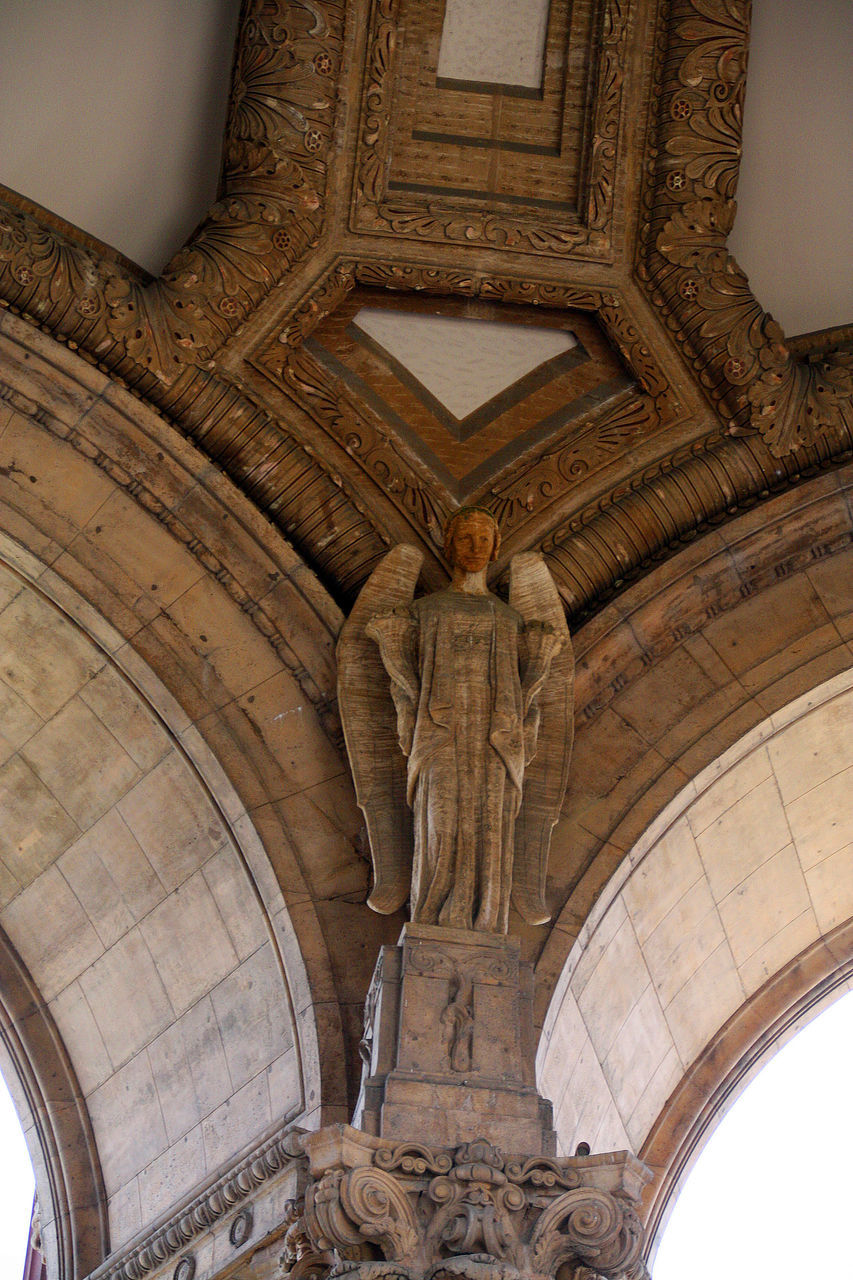 spirituality, religion, place of worship, architecture, statue, no people, low angle view, history, sculpture, indoors, built structure, day
