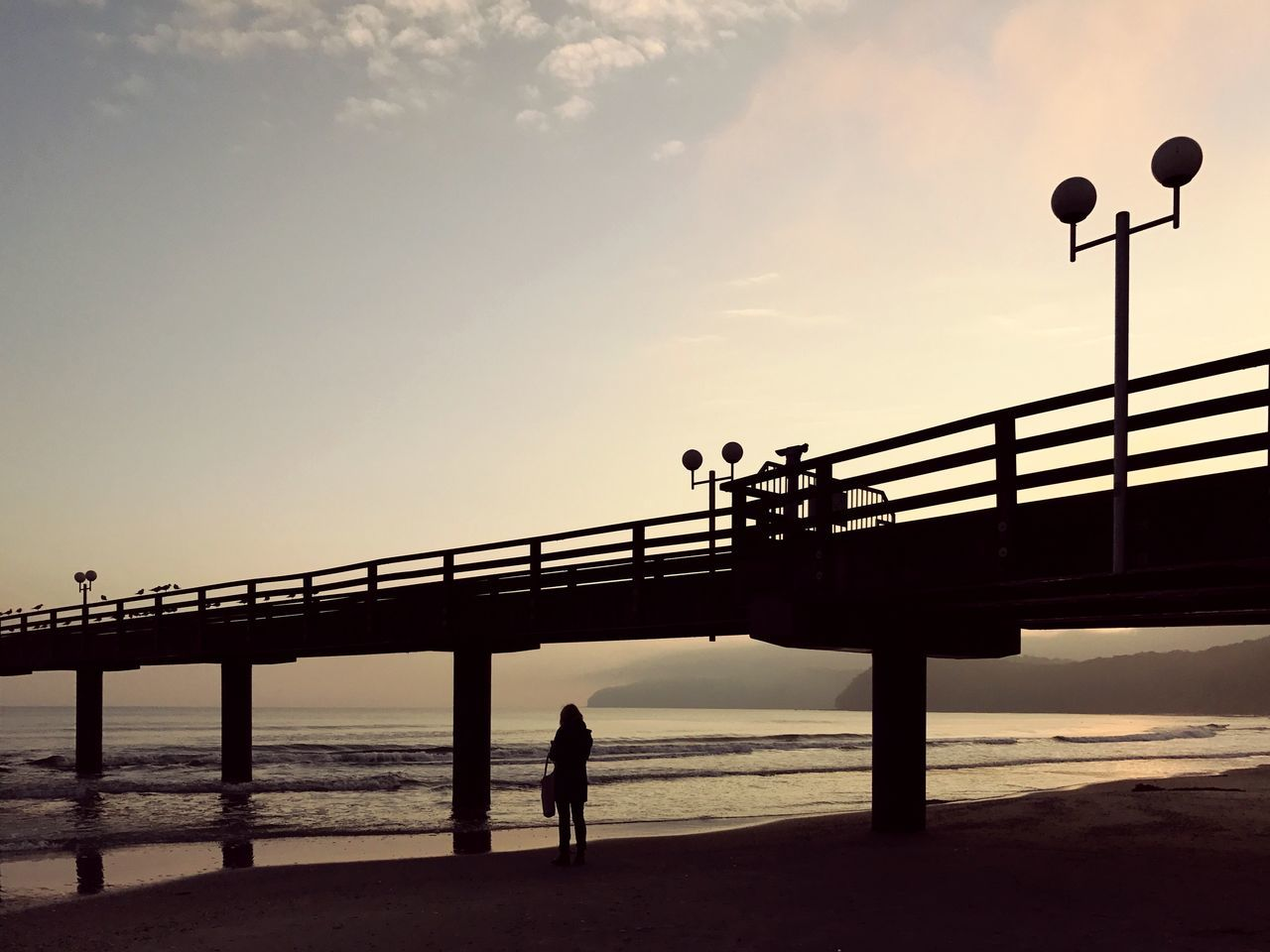 My Year My View Sky Railing Bridge - Man Made Structure Sea Connection Outdoors Sunset Nature Real People Full Length Men Day Beauty In Nature One Person Water People Silhouette Beach Ostsee Ostseebad Binz EyeEm Best Shots EyeEm Nature Lover Eyeem Market Miles Away