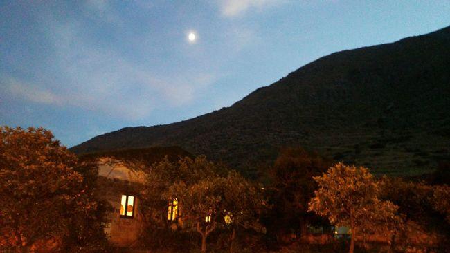 No Filter, No Edit, Just Photography No Filter No People Agritourism Nature Moon Evening Sky