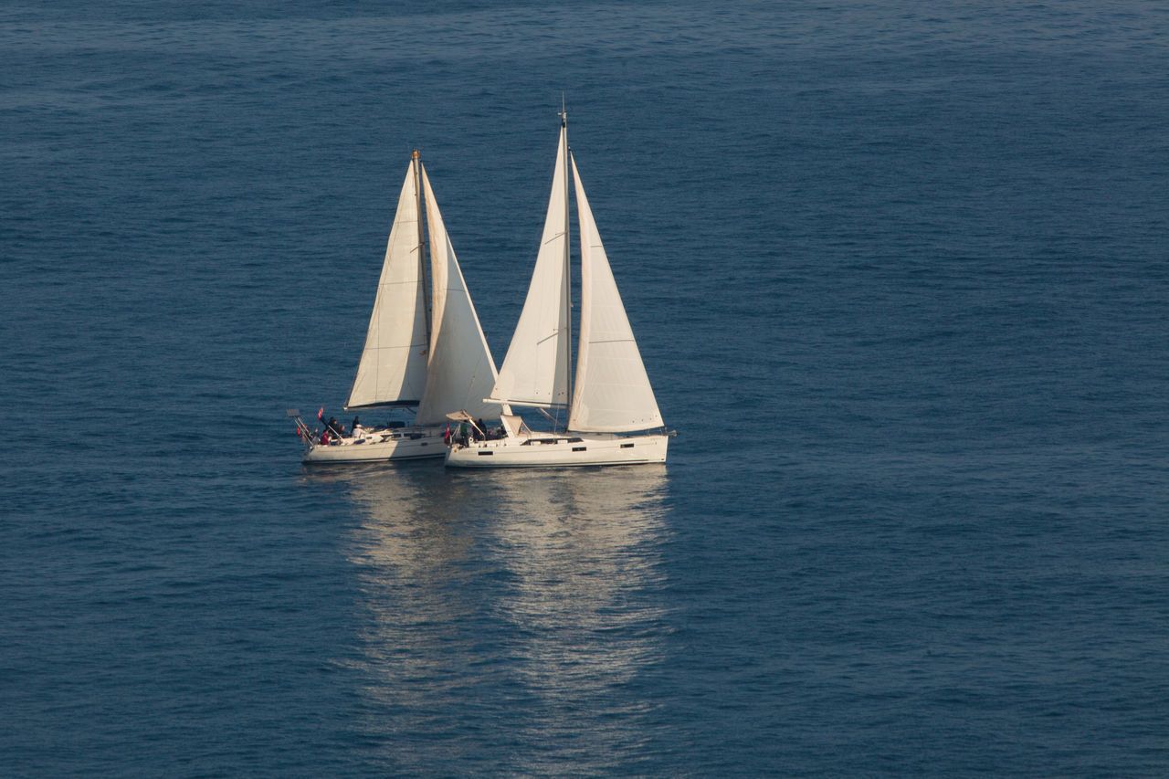 Adventure Boat Deck Regatta Sailboat Sailing Sailing Ship Sea Sport Togetherness Trip Two Yacht Yachting