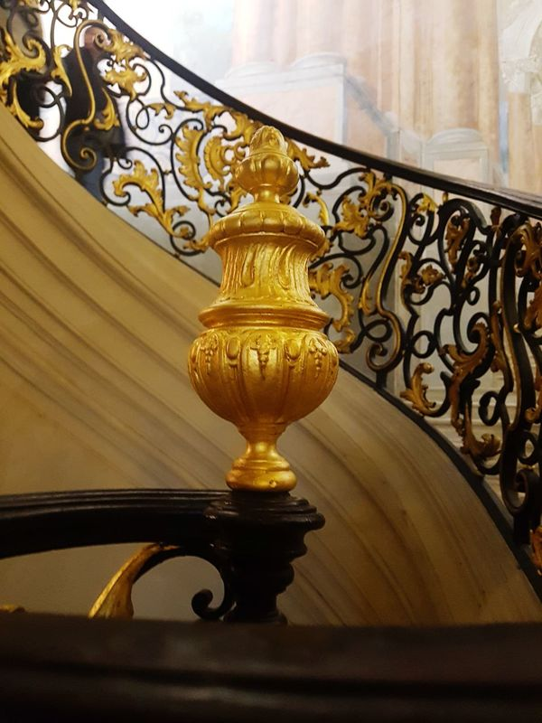 Indoors  Antique Architecture Gold Colored Home Interior Architecture Luxury Nancy Place Stanislas
