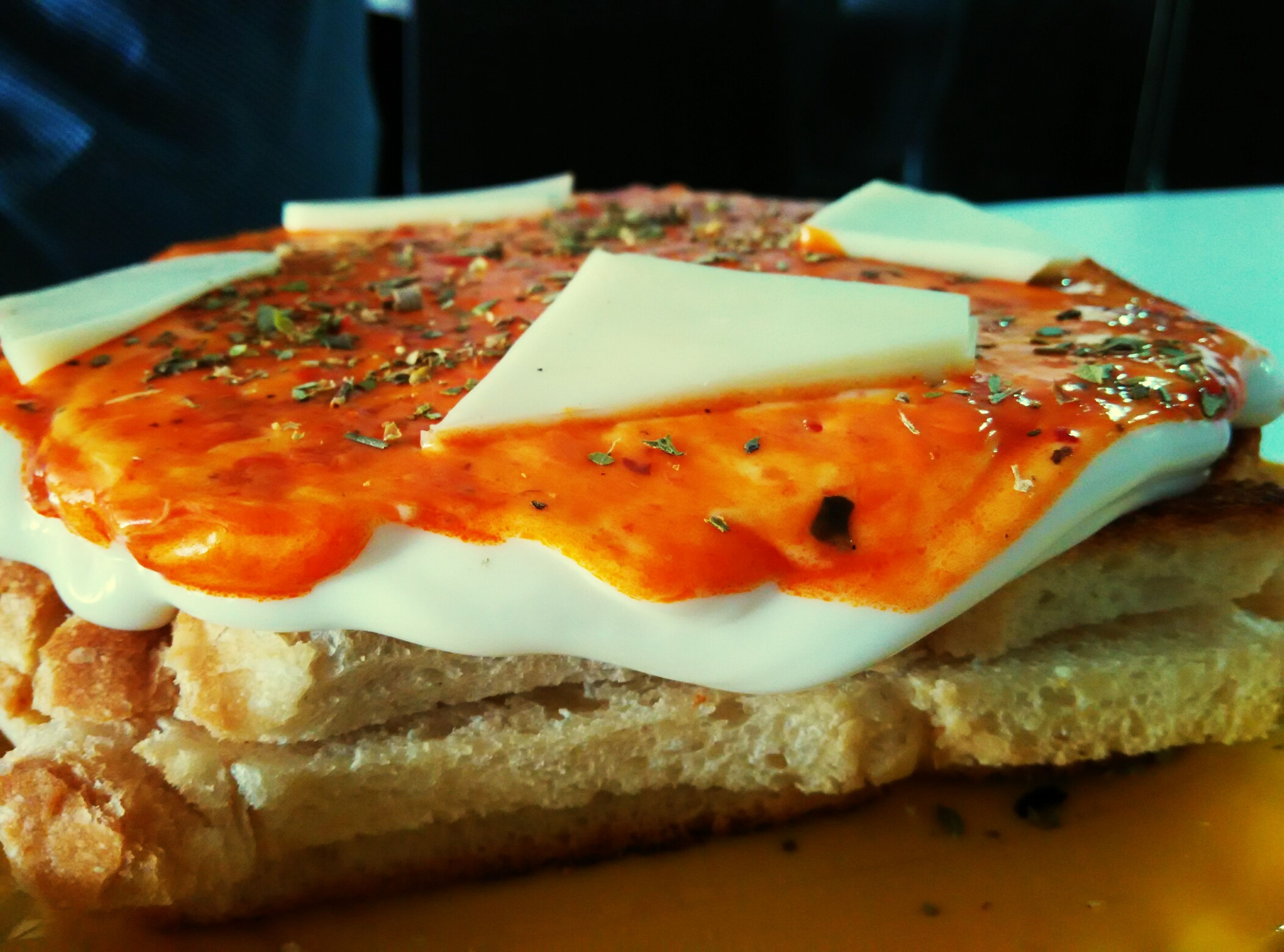 Sandwitch pizzatopping Sandwizza Yammy !!