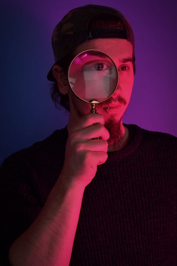 From one of the shoots i did in a studio Fashion Gel Lighting Gels Low Key Pink Urban Grunge Surrealism Neon Lights Magnifying Glass First Eyeem Photo